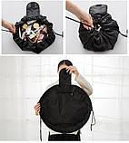 Косметичка мешок Vely Vely. Черная, Косметичка мішок Vely Vely. Чорна, Органайзеры для дома и путешествий, фото 3