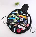 Косметичка мешок Vely Vely. Черная, Косметичка мішок Vely Vely. Чорна, Органайзеры для дома и путешествий, фото 4