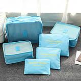 Набор дорожных органайзеров Secret Pouch. Голубой, Органайзеры для дома и путешествий, фото 4