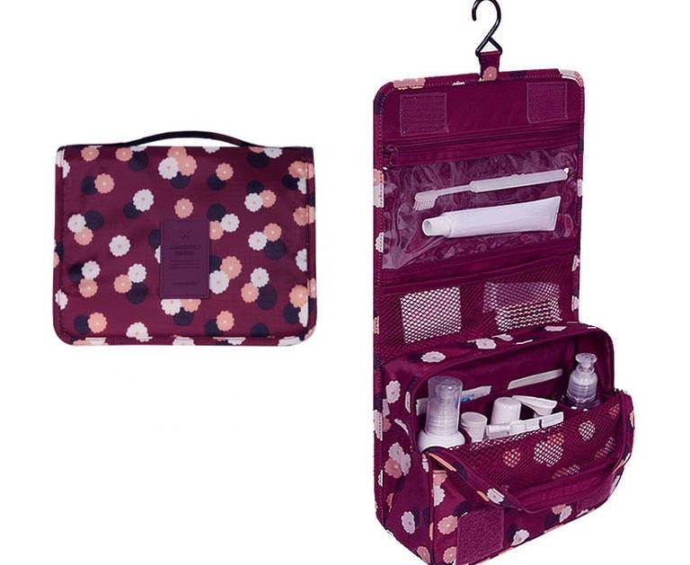 Дорожный органайзер Monopoly toiletry pouch. Бордовый в цветочки. УЦЕНКА, Органайзеры для дома и путешествий