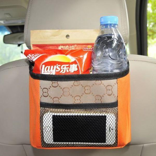 Органайзер на спинку сидения в автомобиль. Оранжевый, Органайзеры для дома и путешествий