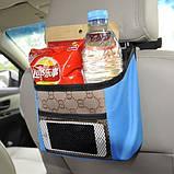 Органайзер на спинку сидения в автомобиль. Оранжевый, Органайзеры для дома и путешествий, фото 5