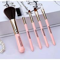 Кисти для макияжа Lameila 5 шт/набор. Розовый, Кисті для макіяжу Lameila 5 шт/набір. Рожевий