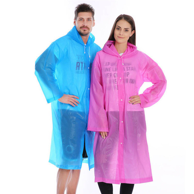 Плащ-дождевик EVA Raincoat Унисекс. Розовый, Спорт и отдых