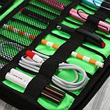 Дорожный органайзер для зарядок, проводов и кабелей. Камуфляж, Органайзеры для дома и путешествий, фото 3