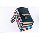 Винтажный блокнот с якорем и штурвалом. Красно-коричневый, Подарочные блокноты, фото 3