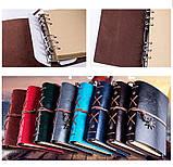 Винтажный блокнот с якорем и штурвалом. Красно-коричневый, Подарочные блокноты, фото 4