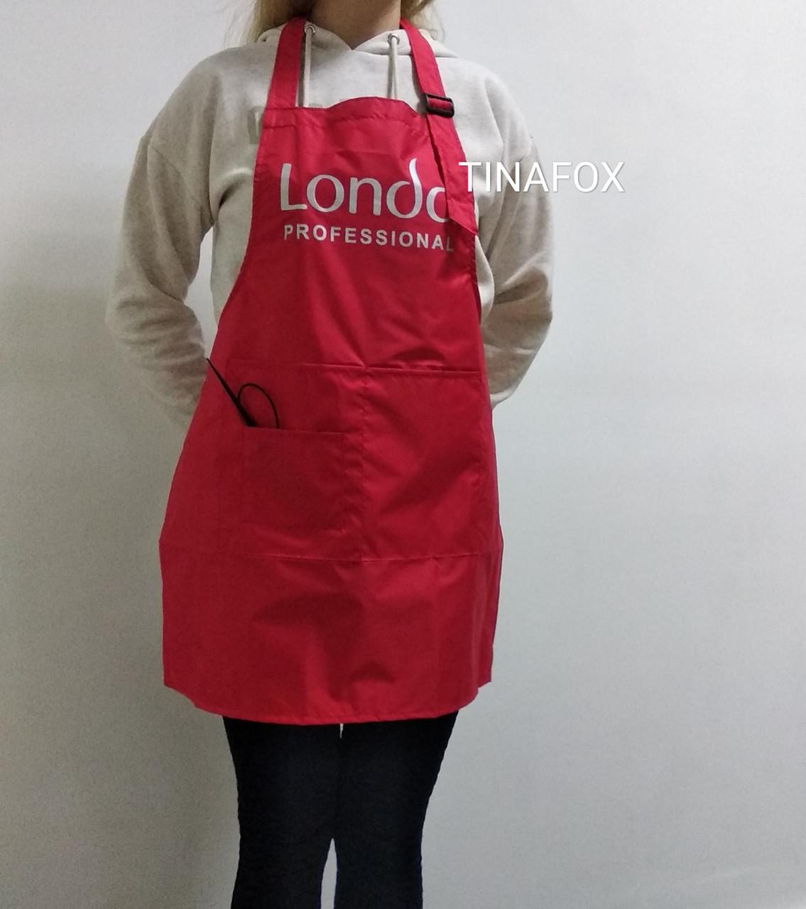 Фартук для мастера маникюра  плащевка Londa Professional, красный