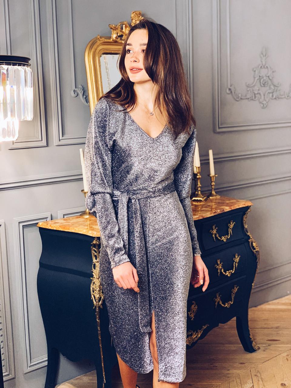 Платье блестящее К 00548 с 01