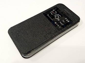 Чехол книжка с окошком Ulike для iPhone 5 / 5s / SE черная