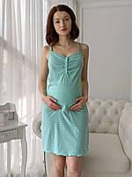 Женская сорочка (мятный горошек)