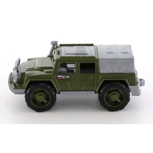 Автомобиль-внедорожник Защитник №1 военный 310х155х128 в сеточке
