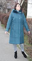 Пальто женское зимнее П-62 бирюза