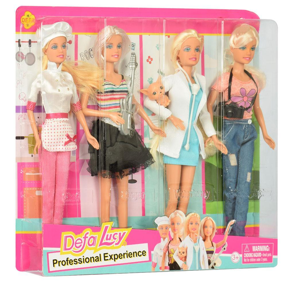 Набор светловолосых кукол  Defa Lucy 8405-BF профессии