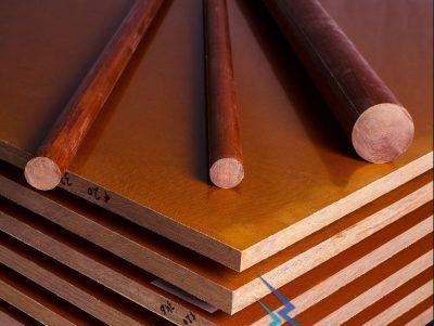 Текстолитовые электротехнические стержни  ф 8 мм
