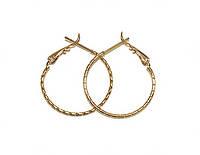 Серьги-кольца с рифлением Xuping с позолотой - 204795