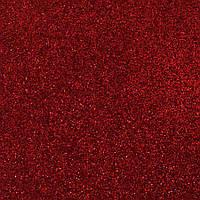 Глиттерный фоамиран А4 красный
