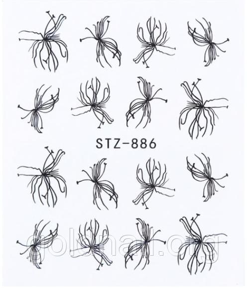 Слайдер дизайн водный для ногтей STZ-886