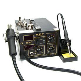 Паяльная станция WEP 852D+ компрессорная ( фен, паяльник )