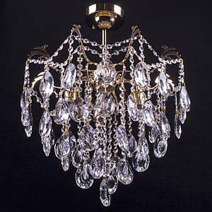Кришталева люстра класична на 4 лампочки Прометей P5-E1285/4/FG