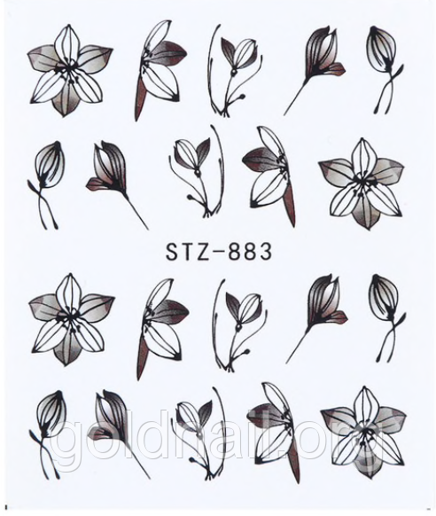 Слайдер дизайн водний для нігтів STZ-883
