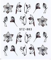 Слайдер дизайн водный для ногтей STZ-883