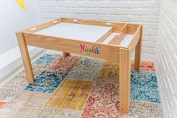 Световой стол-песочница Noofik (дерево ясень) Комплект Базовый