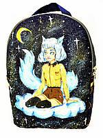Джинсовый рюкзак Мечтательница, фото 1
