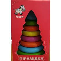 Деревянная пирамидка 1010-01 большая цветовая VT