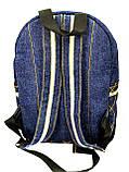 Джинсовый рюкзак Русалка, фото 4
