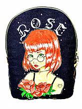 Джинсовый рюкзак Роза