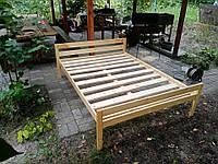 Кровать двуспальная из натурального дерева