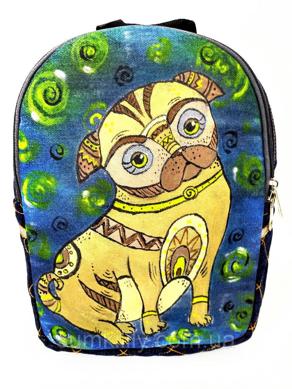 Джинсовый рюкзак Пикинес