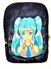 Дівчинка з блакитним волоссям