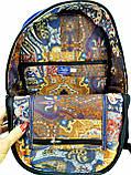 Джинсовый рюкзак Котосемья, фото 5