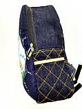 Джинсовый рюкзак Котосемья, фото 2
