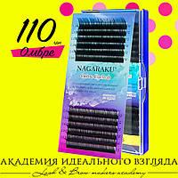 Ресницы цветные Нагараку Nagaraku 12 линий Омбре 0,07
