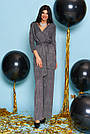 Комбинезон чёрный женский нарядный с люрексом, размеры от 42 до 50, брючный, фото 4