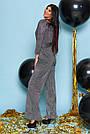 Комбинезон чёрный женский нарядный с люрексом, размеры от 42 до 50, брючный, фото 2