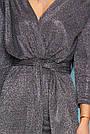 Комбинезон чёрный женский нарядный с люрексом, размеры от 42 до 50, брючный, фото 5