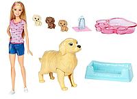 Набор кукла Барби Малыши щенки Barbie Newborn pups