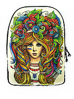 Джинсовый рюкзак Я УКРАЇНКА, фото 1