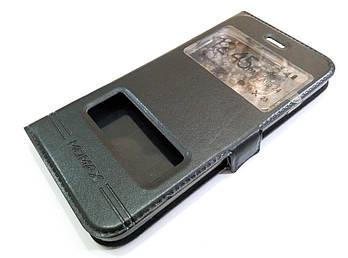 Чехол книжка с окошками momax для iPhone 7 черный