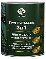 "Грунт-эмаль 3 в 1 ""СПЕКТР"" серебристая RAL 9006 2,5 кг"