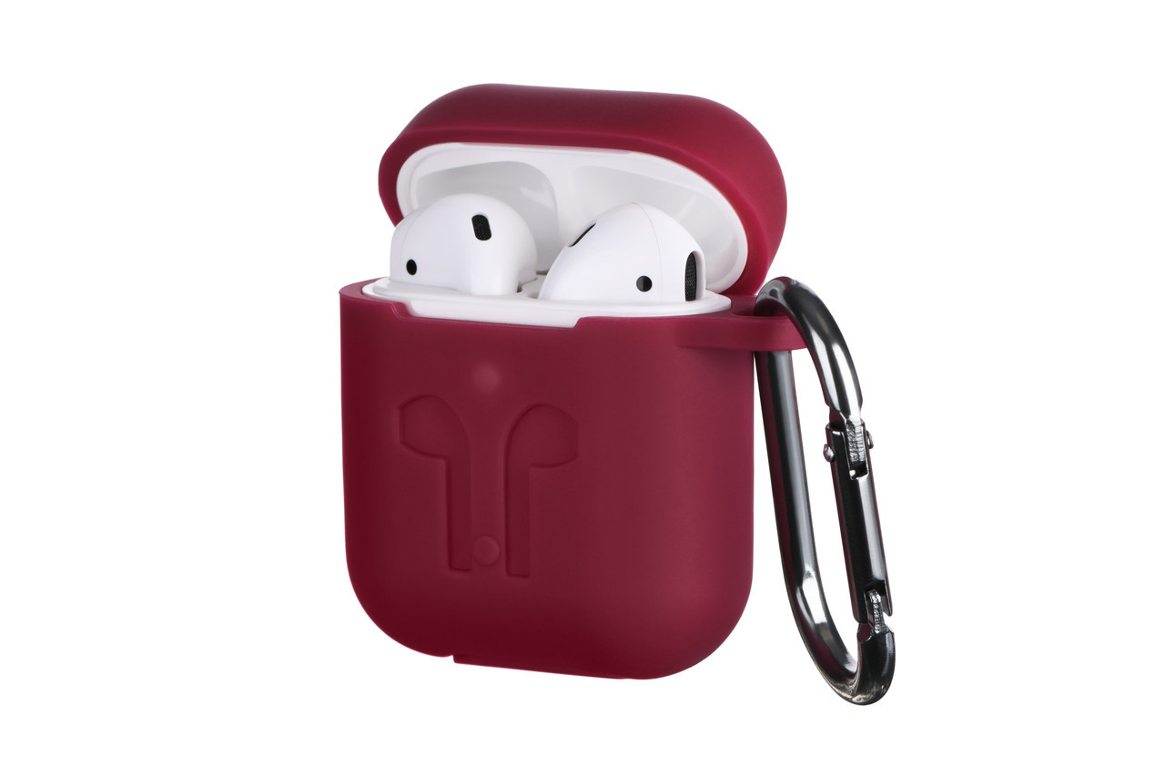 Чехол 2Е Apple AirPods Pure Color Silicone Imprint 3.0mm Marsala (2E-AIR-PODS-IBPCSI-3-M) EAN/UPC: 681920373315