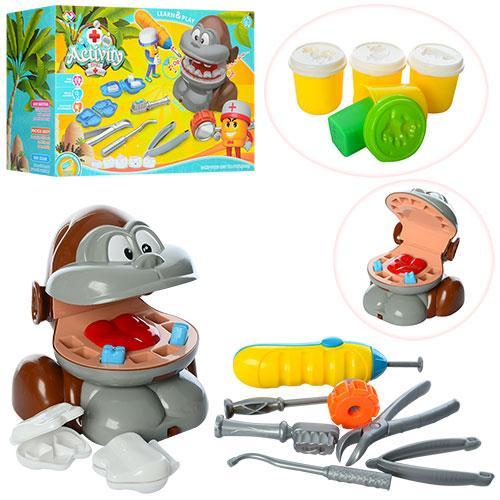 Набор для лепки обезьяна Стоматолог MK 1520 детский игровой набор