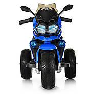 Электромотоцикл детский M 4117EL-4 синий Гарантия качества Быстрая доставка, фото 2