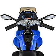 Электромотоцикл детский M 4117EL-4 синий Гарантия качества Быстрая доставка, фото 3
