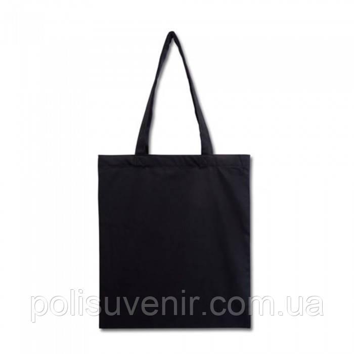 Чорна еко сумка з бавовни