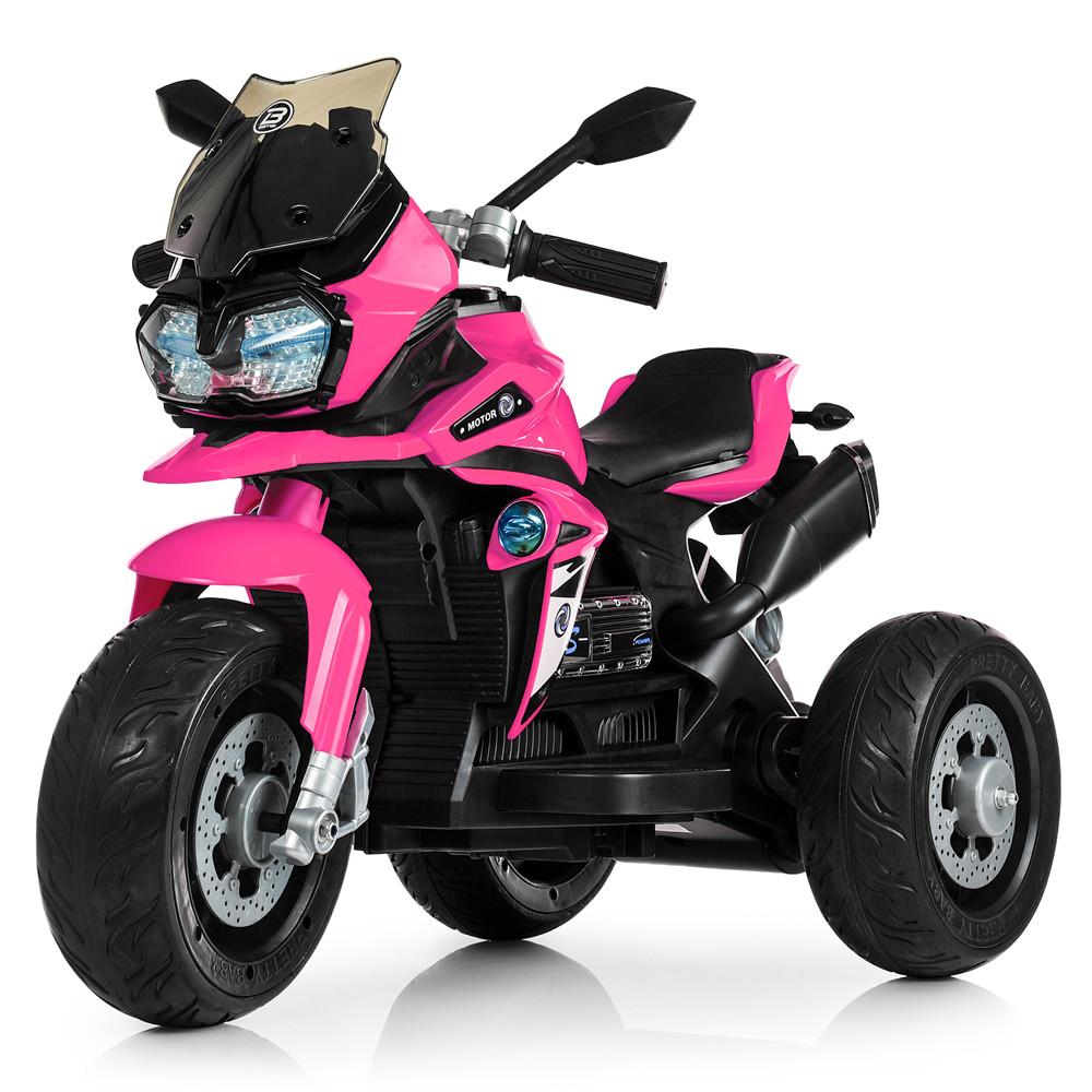 Электромотоцикл детский M 4117EL-8 розовый Гарантия качества Быстрая доставка